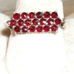 Jewelry - Vintage-Triple-Row-Of-Garnets-Ring-6-1-2  Vintage